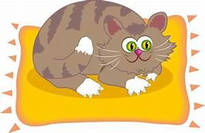 Cat On A Mat Clipart