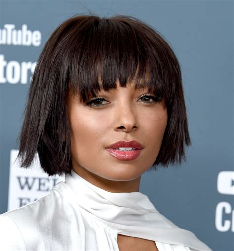 kat graham short cut with bangs short hairstyles lookbook stylebistro