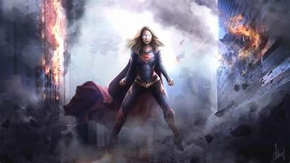 Supergirl Wallpapers Arts Superheroes Digital Deviantart Artwork