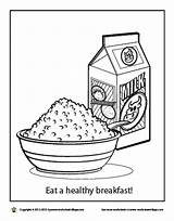 Breakfast Coloring Healthy Eat Worksheet Oatmeal Sheets Colors Worksheeto Printable Birthday Worksheets sketch template