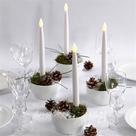 candele con led decorazioni natalizie con candele led guida fai da te