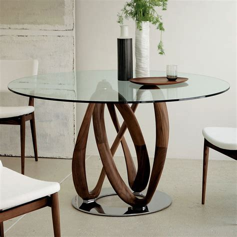 Porada Infinity Round Glass Dining Table