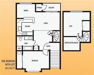 New, One, Bedroom, House, Plans, Loft