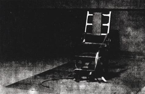 little electric chair by andy warhol on artnet