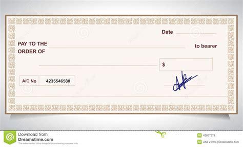 bank check bank cheque stock vector image
