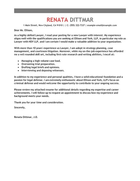 application letter sample  lawyer legal secretary