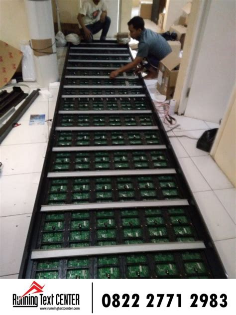 jual running text led display harga murah surabaya rtc