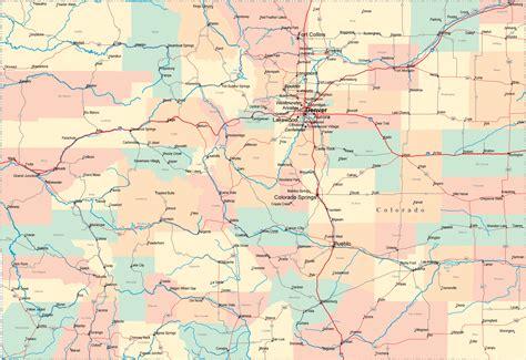 colorado road map co road map colorado highway map
