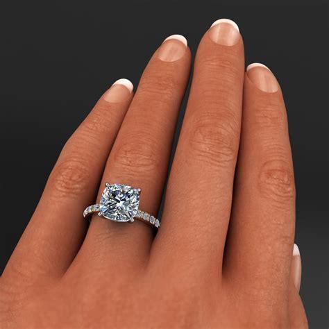 sage ring 4 2 carat cushion cut neo moissanite and