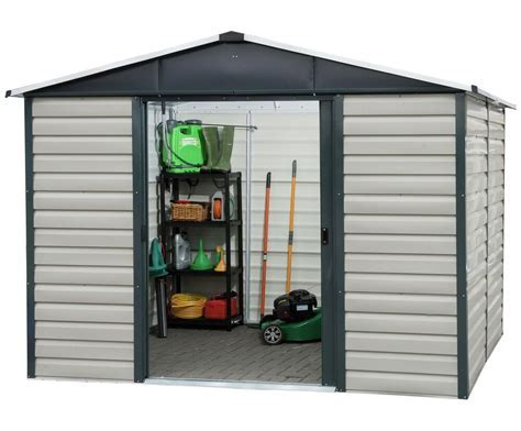 Yardmaster 8 x 6ft Extra Tall Metal Shiplap Shed. From the