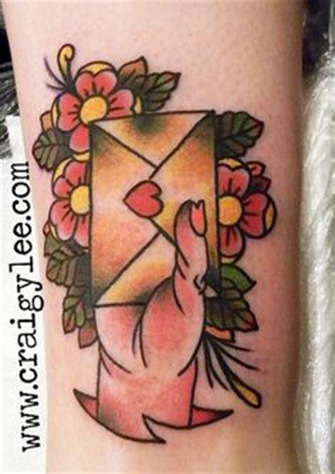 tattoo traditional love letters  pinterest envelope