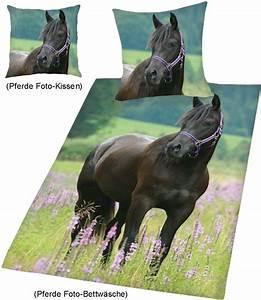 Foto Auf Bettwäsche : foto bettw sche mit kissen pferd auf wiese ~ Michelbontemps.com Haus und Dekorationen