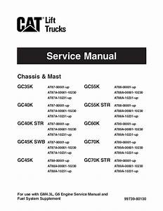 Caterpillar Cat Gc60 K Forklift Lift Trucks Service Repair