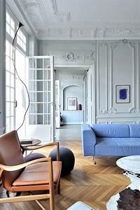 Salon Classique Chic : argile peintures argile peinture pour un appartement parisien interior design architecture d ~ Dallasstarsshop.com Idées de Décoration
