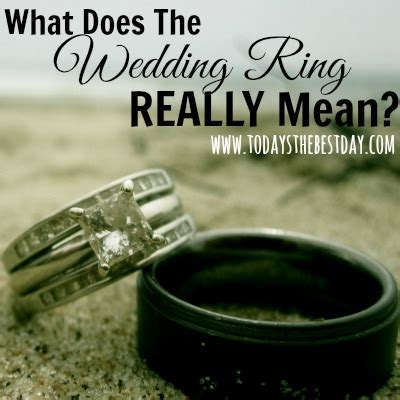 what does the wedding ring really today s the day