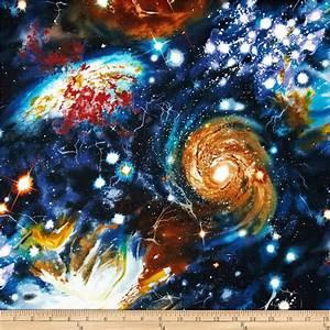 Stargazers Space Collage Midnight - Discount Designer