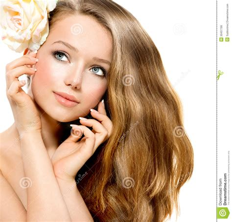 Beauty Girl Stock Image Image Of Hair Care Model