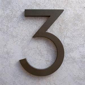 Numéro De Maison Design : maison moderne num ro aluminium moderne police num ro 3 en ~ Premium-room.com Idées de Décoration