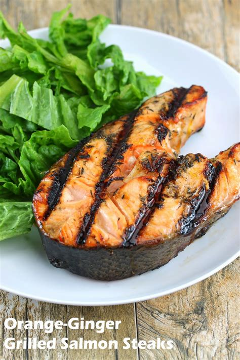how to bbq salmon orange ginger grilled salmon steaks thestayathomechef com