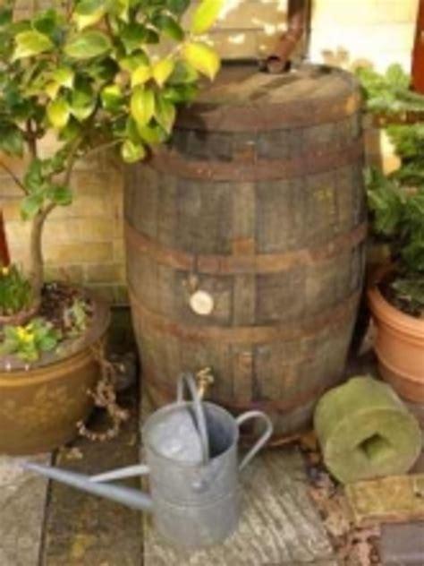 barrel garden  gallon rustic water butt