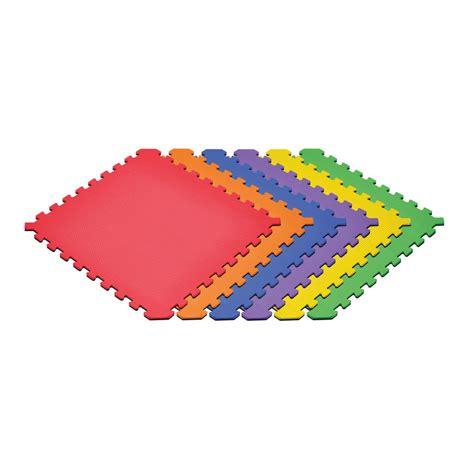 Norsk Reversible Floor Mats by Norsk Black Rainbow 24 In X 24 In X 0 51 In Foam