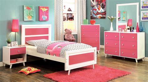 Alivia Youth Pink And White Platform Bedroom Set, Cm7850pk