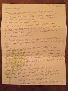 This grandmas response to her granddaughters engagement for Letter to grandma from grandson