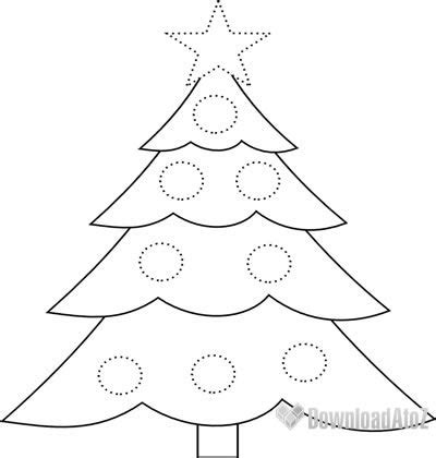 draw  easy christmas tree sketch coloring page