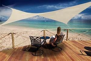 Voile D Ombrage Gifi : la voile carr e peddy shield 3 6 x 3 6 m sable ilya2too ~ Melissatoandfro.com Idées de Décoration