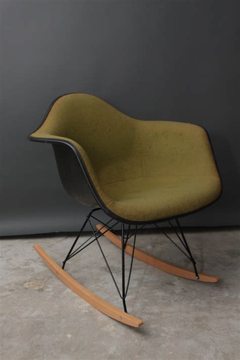 vintage herman miller eames fabric rocking chair by