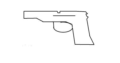rubber band gun template template of paper gun