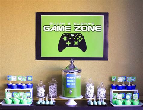 """Video Games  Birthday """"xbox Video Game Themed Party"""