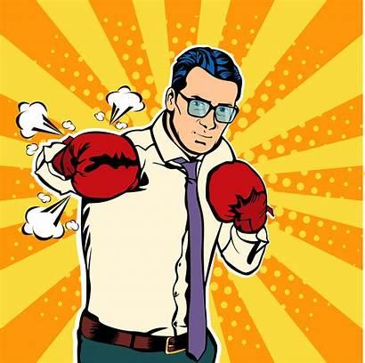 Boxing Pop Gloves Illustration Comic Vector Fighting