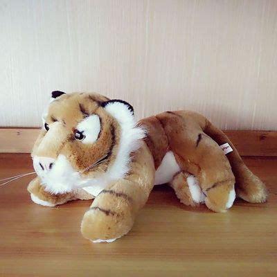 yellow soft christmas gift about 18cm prone yellow tiger doll soft plush gift b0169 in stuffed plush