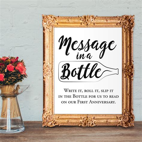 Wedding Guest Book by Wedding Guest Book Sign Message In A Bottle Anniversary