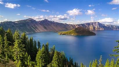 Oregon Desktop Summer Landscape Usa Lake Crater