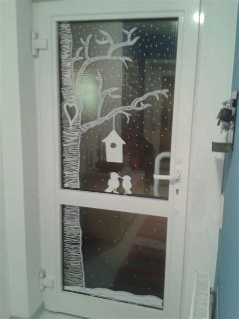 Weihnachtsdeko Fenster Bemalen by Haust 252 R Mit Kreidemarker Bemalt Kreidestift