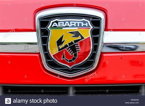 Fiat Stock Symbol abarth badge with scorpion symbol on the bonnet of a fiat