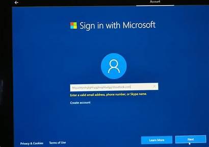 Microsoft Windows Account Local Create Sign Accounts
