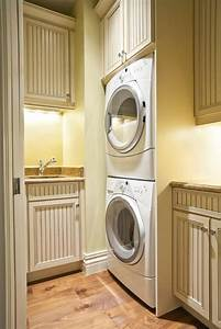 20, Laundry, Rooms, With, Stackable, Washer, And, Dryer, Photo, Ideas