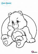 Coloring Bear Grumpy Care Bears Bubakids Cartoon Disney sketch template