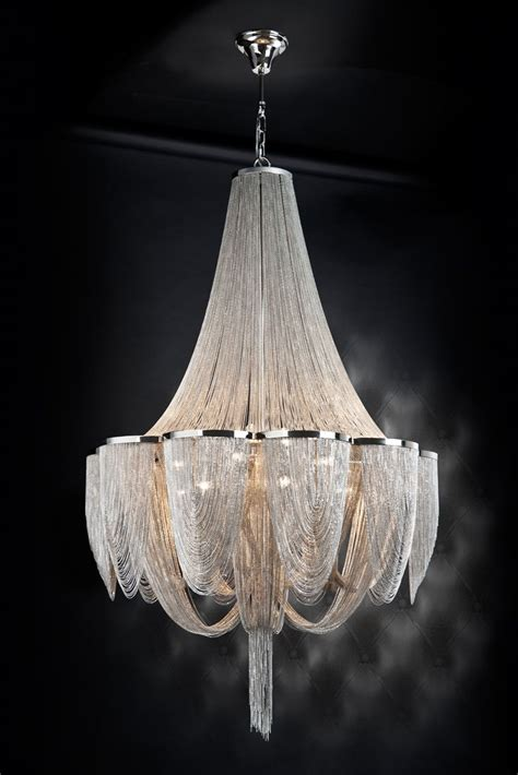 Silver Chain Chandelier by 15 Light Silver Chain Empire Style Chandelier Ideas For
