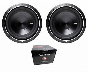 Pair Of Rockford Fosgate 10 U0026quot  Punch P3 2000w Dual 2 Ohm