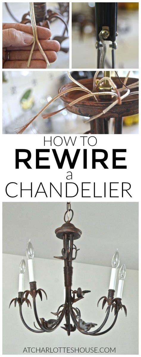 Rewire A Chandelier Rewiring Chandeliers Chandelier