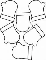 Mitten Mittens Coloring Pages Pattern Clipart Christmas Winter Clip Printable Template Outline Colouring Patterns Cliparts Preschool Sheet Snowman Templates Library sketch template