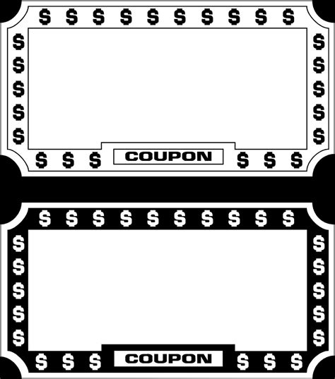 clipart coupon template clipground