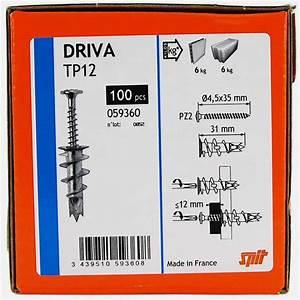 Cheville Pour Carreau De Platre : cheville driva tp12 autoforeuse pour plaque de pl tre spit ~ Dailycaller-alerts.com Idées de Décoration