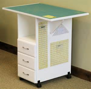 Sewing Rite Model 93C White Cutting / Craft Table with 3 Storage Drawers