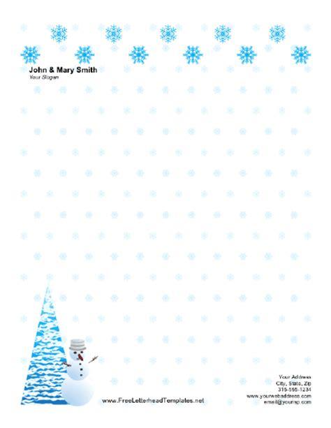 Free Printable Christmas Letterhead Templates