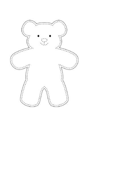 teddy bear template printable